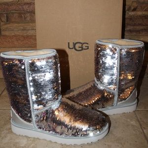 UGG SEQUIN SPARKLE Classic Boot NEW!